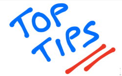 top tips for electrical safety blue writing