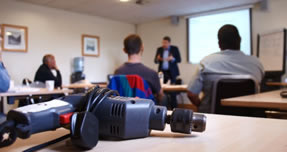 a PAT testing training course being done by the PAT testing expert