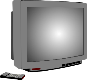 second hand television sold by charity shops