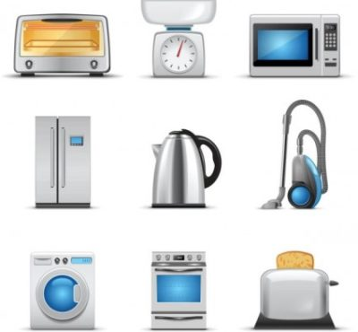 A selection of portable electrical appliances