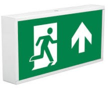 Emergency Lighting sign with running man and arrow
