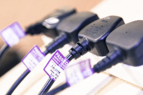 get a PAT testing quote for labels on plugs