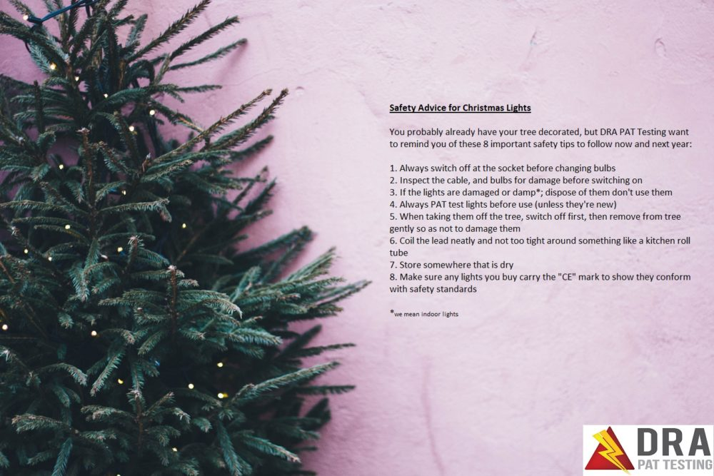 Christmas tree lights - 8 important safety tips